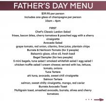 Father's Day Menu